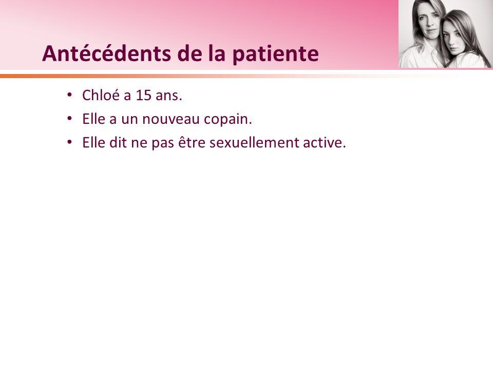 Antécédents de la patiente