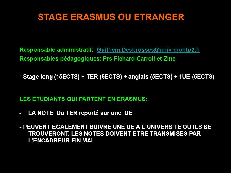 STAGE ERASMUS OU ETRANGER