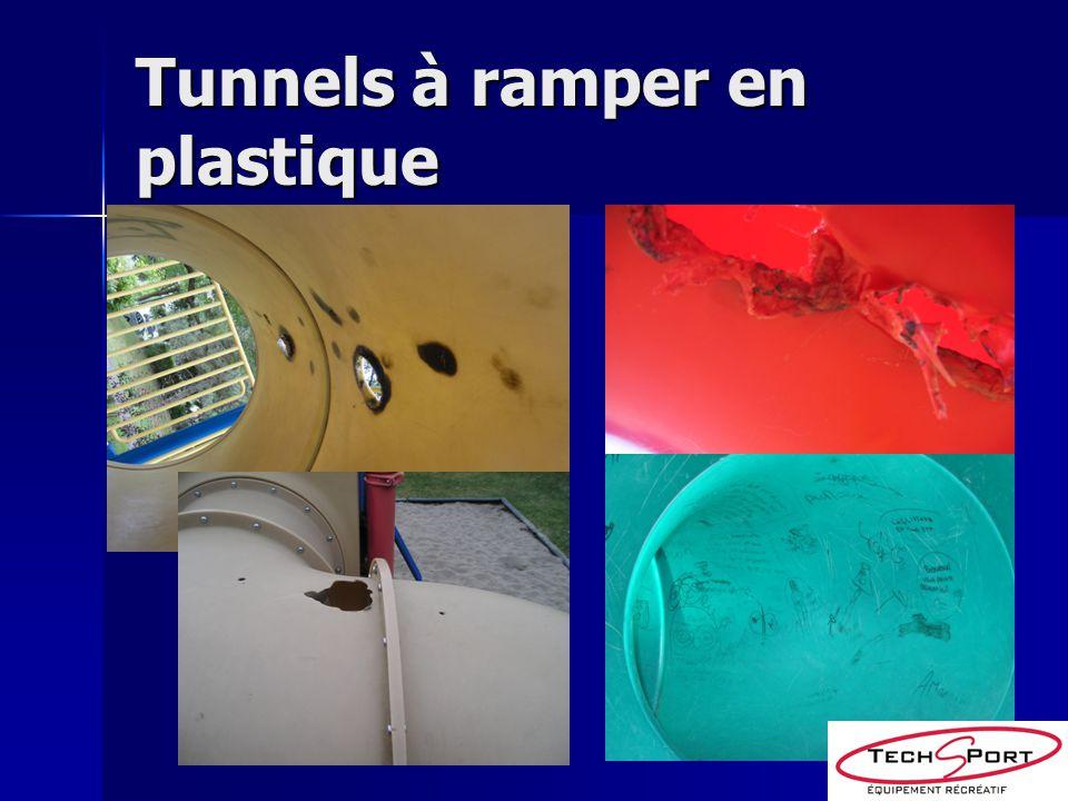 Tunnels à ramper en plastique