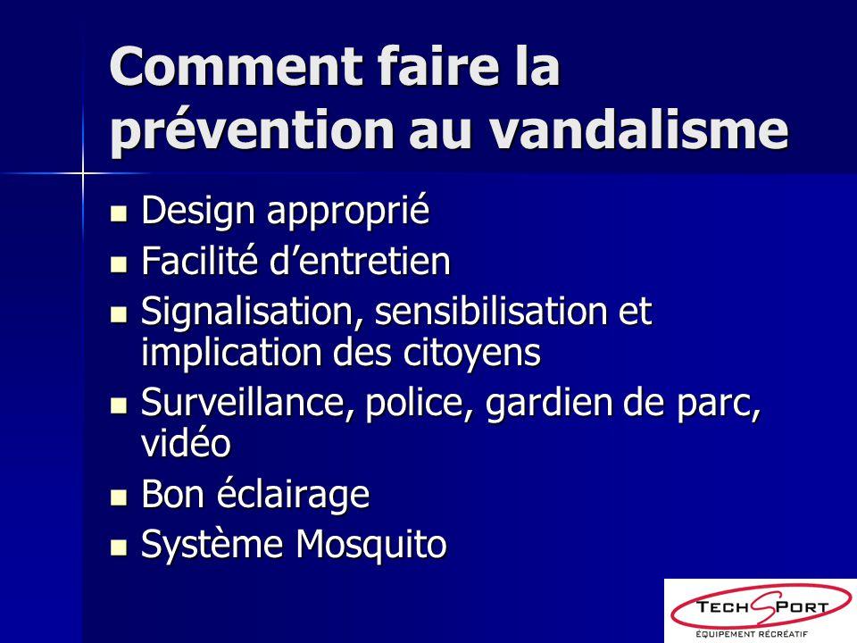 Comment faire la prévention au vandalisme