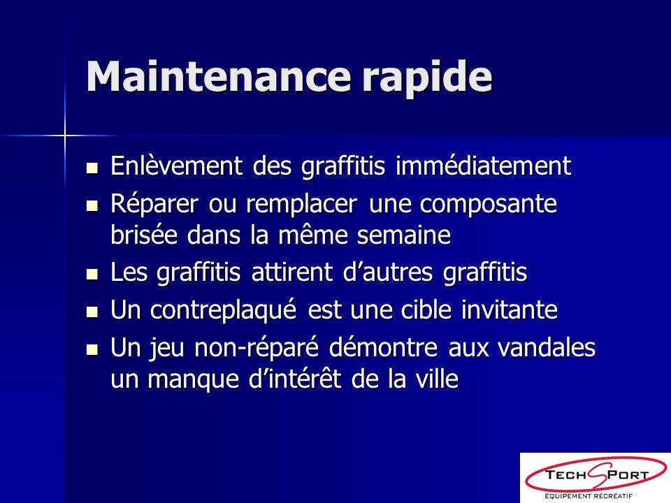 Maintenance rapide Enlèvement des graffitis immédiatement