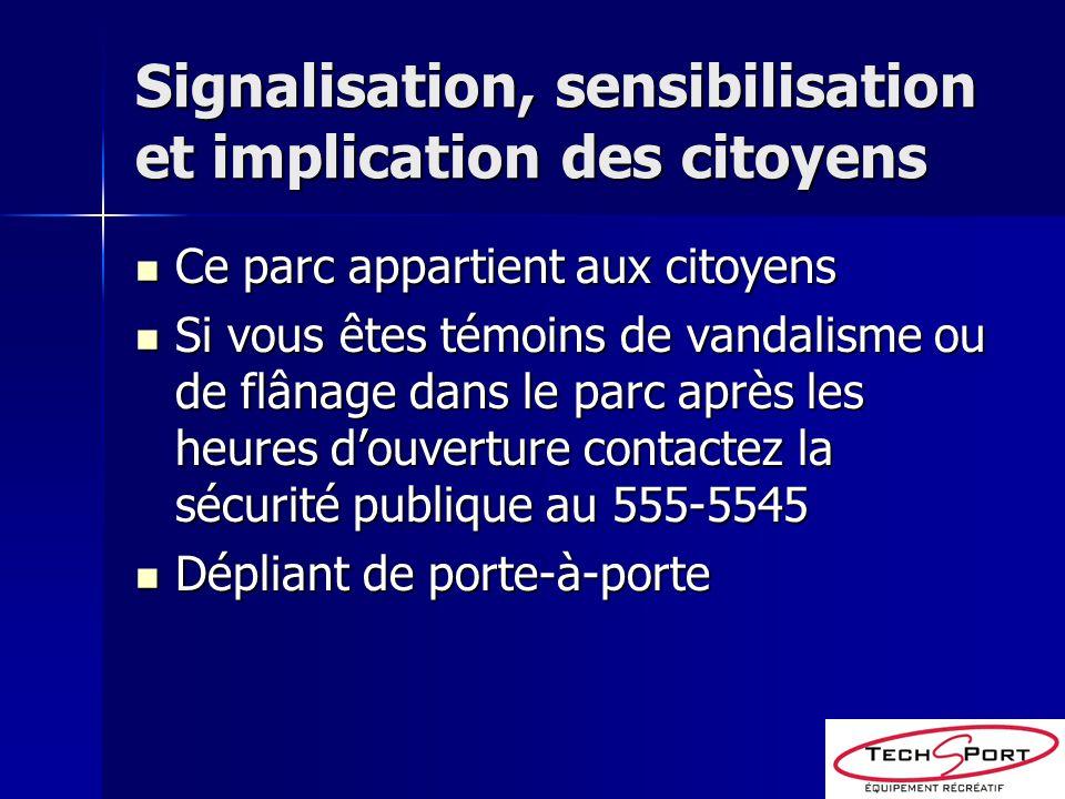 Signalisation, sensibilisation et implication des citoyens