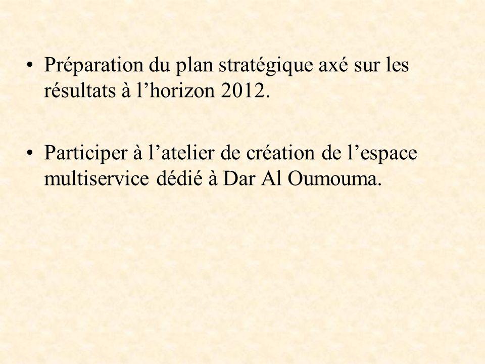 Préparation du plan stratégique axé sur les résultats à l'horizon 2012.