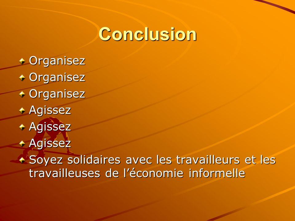 Conclusion Organisez Agissez