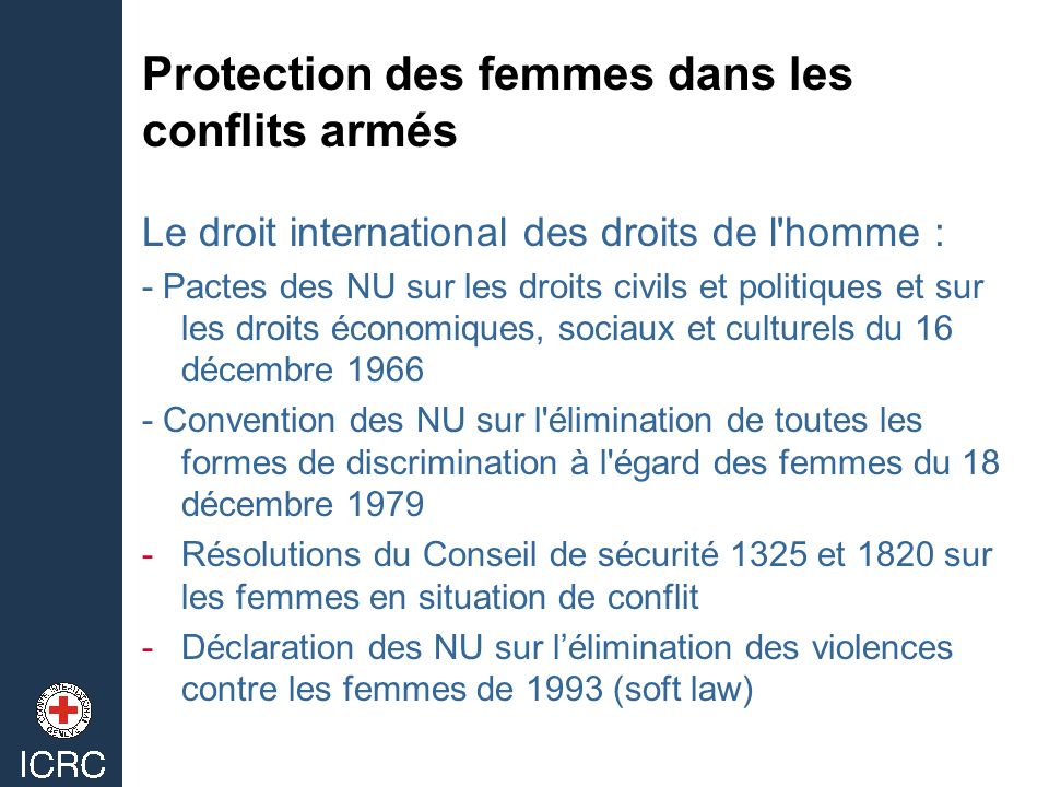 Protection des femmes dans les conflits armés