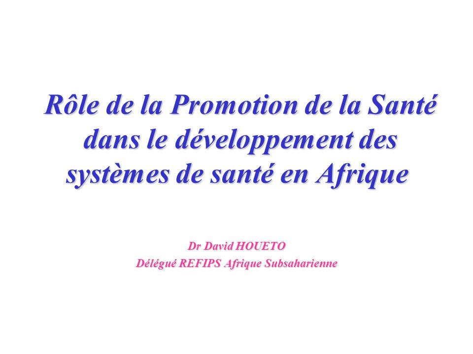 Dr David HOUETO Délégué REFIPS Afrique Subsaharienne