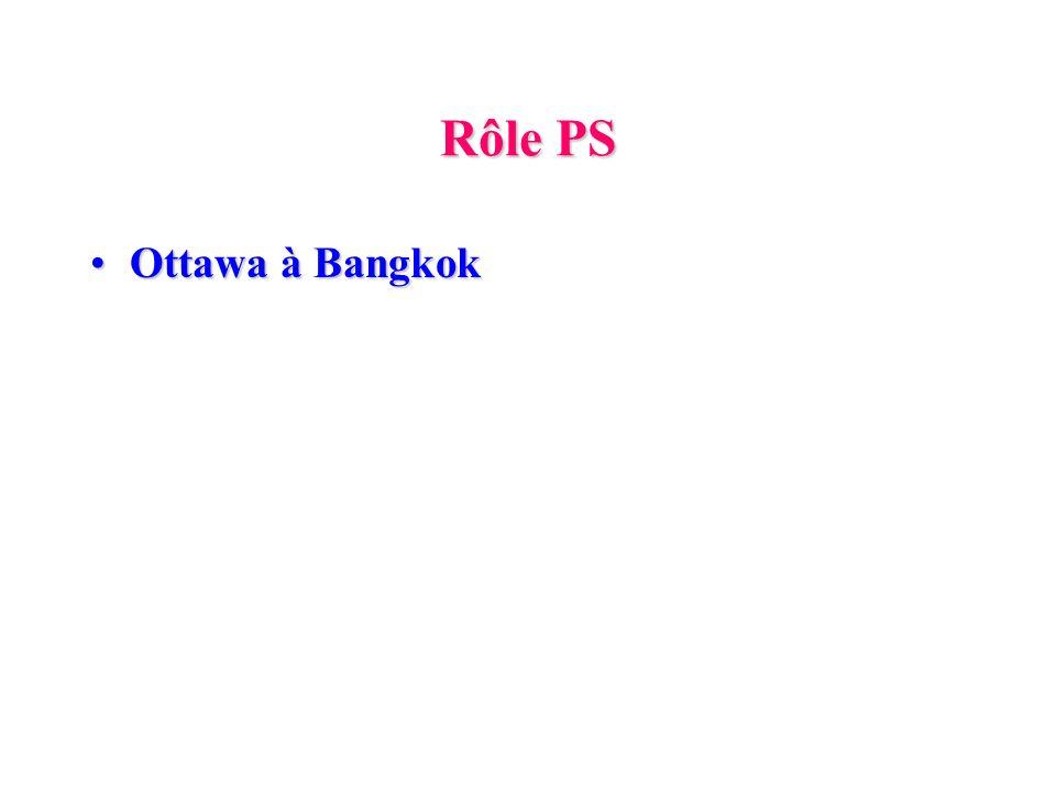 Rôle PS Ottawa à Bangkok