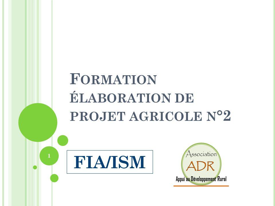 Formation élaboration de projet agricole n°2