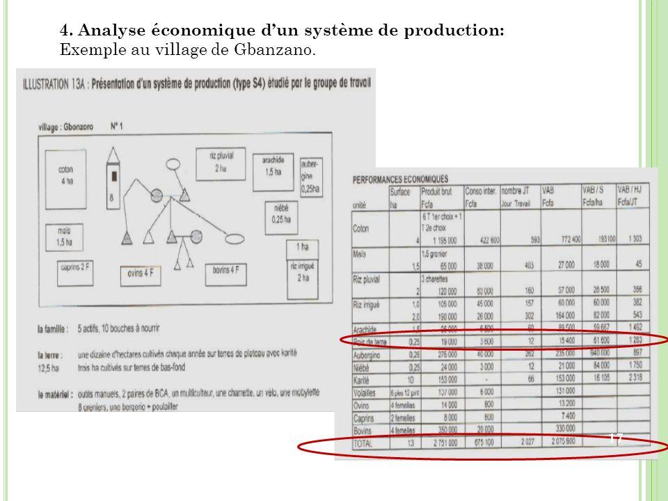 4. Analyse économique d'un système de production: