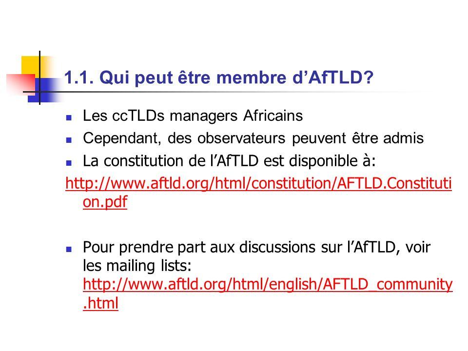 1.1. Qui peut être membre d'AfTLD