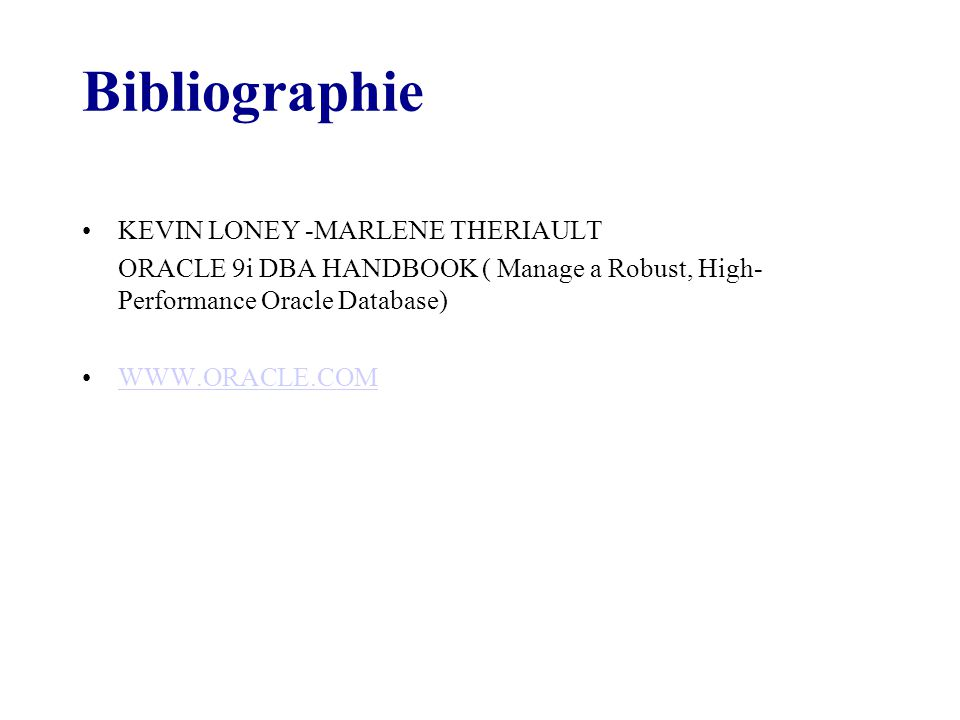 Bibliographie KEVIN LONEY -MARLENE THERIAULT