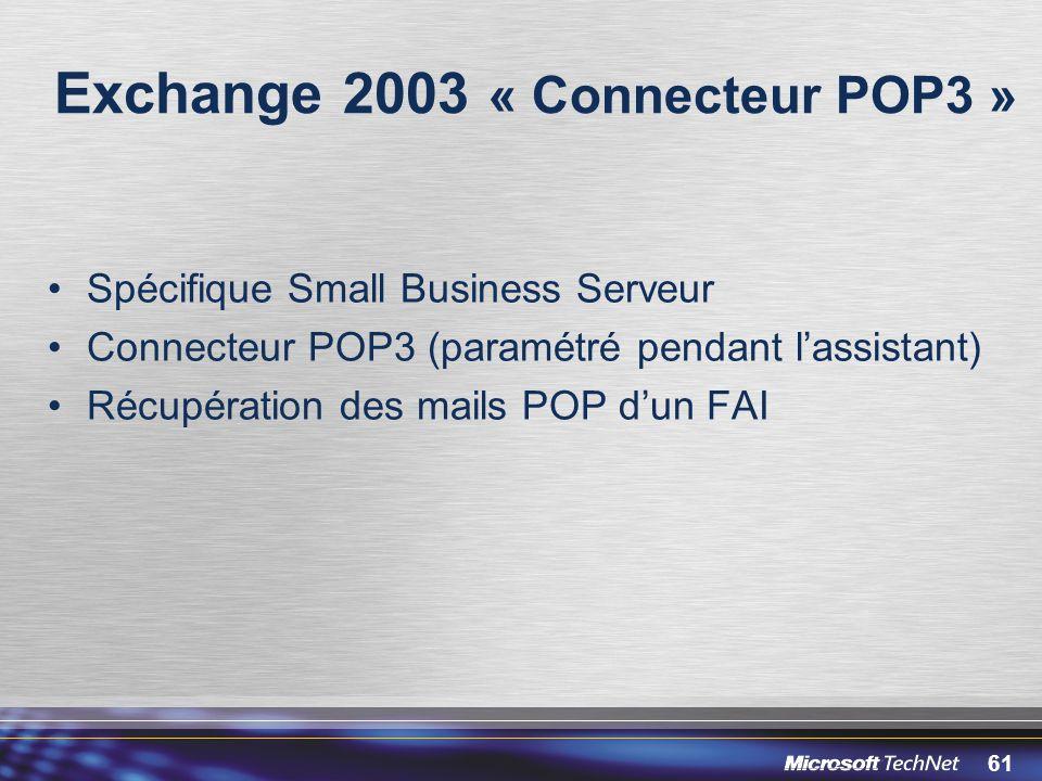 Exchange 2003 « Connecteur POP3 »