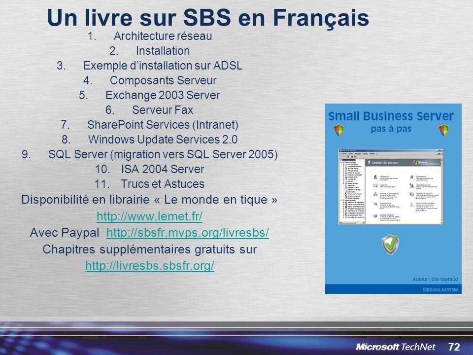 Un livre sur SBS en Français