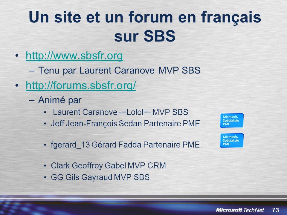 Un site et un forum en français sur SBS
