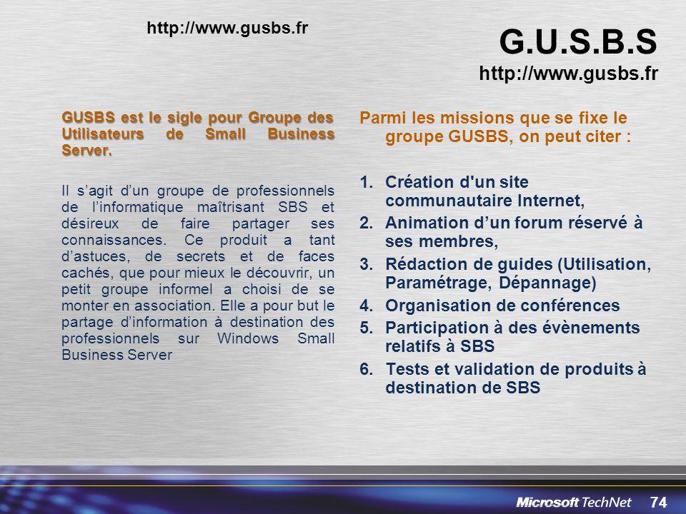 G.U.S.B.S http://www.gusbs.fr