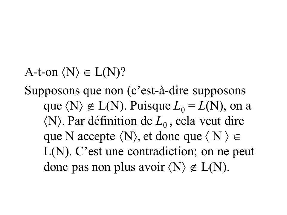 A-t-on N  L(N)
