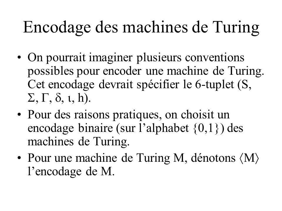 Encodage des machines de Turing
