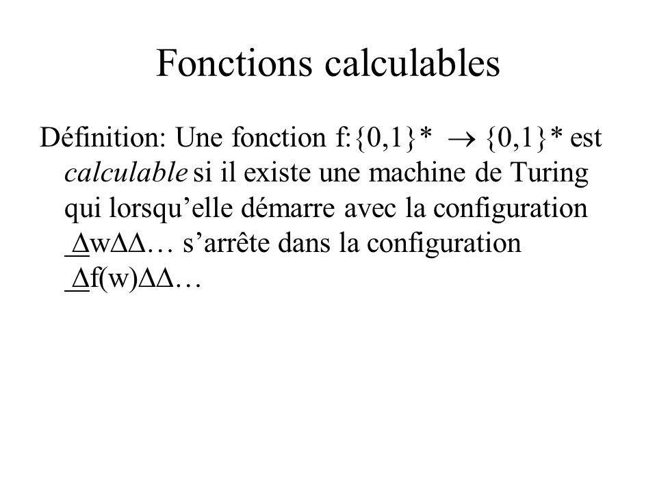 Fonctions calculables