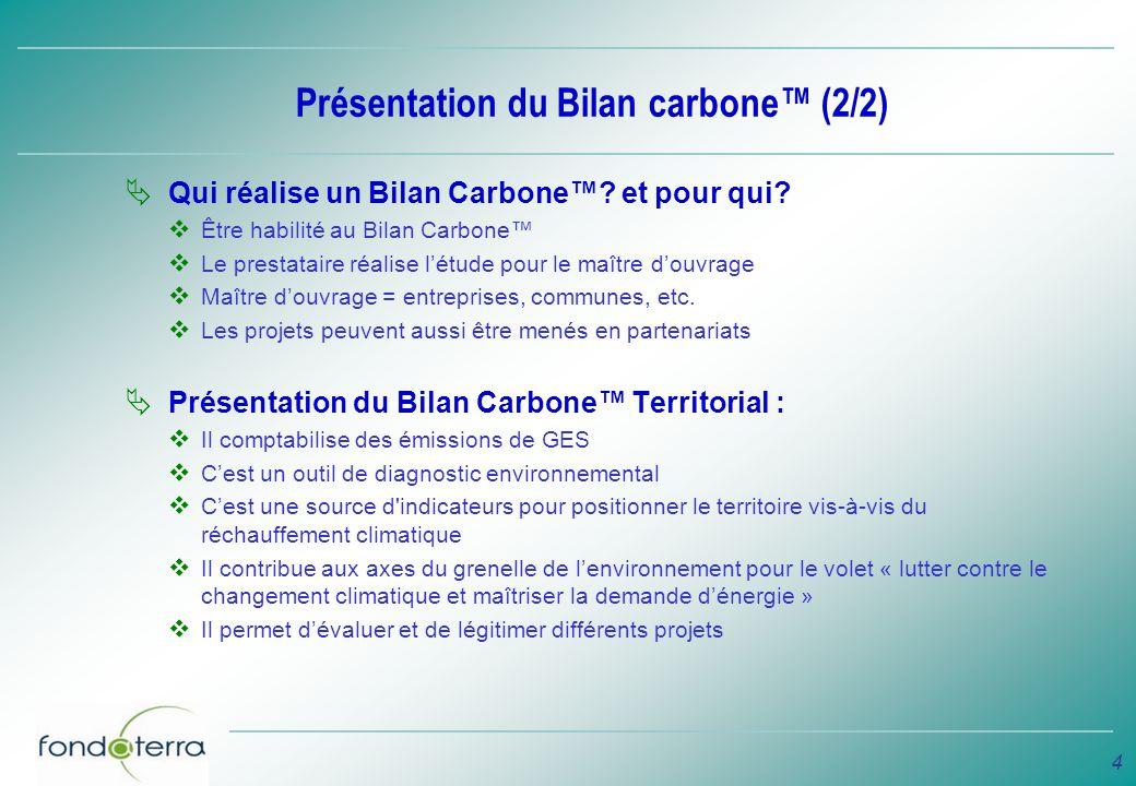 Présentation du Bilan carbone™ (2/2)
