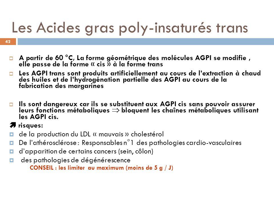 Les Acides gras poly-insaturés trans