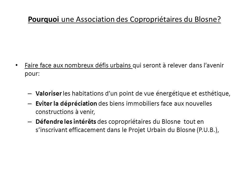 Pourquoi une Association des Copropriétaires du Blosne