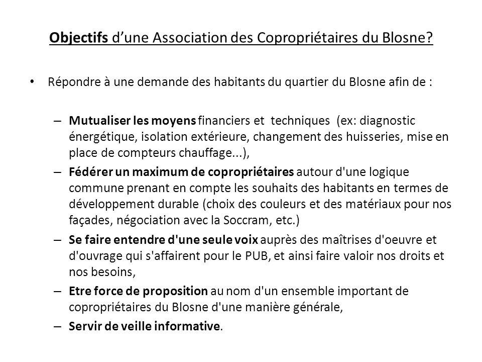 Objectifs d'une Association des Copropriétaires du Blosne