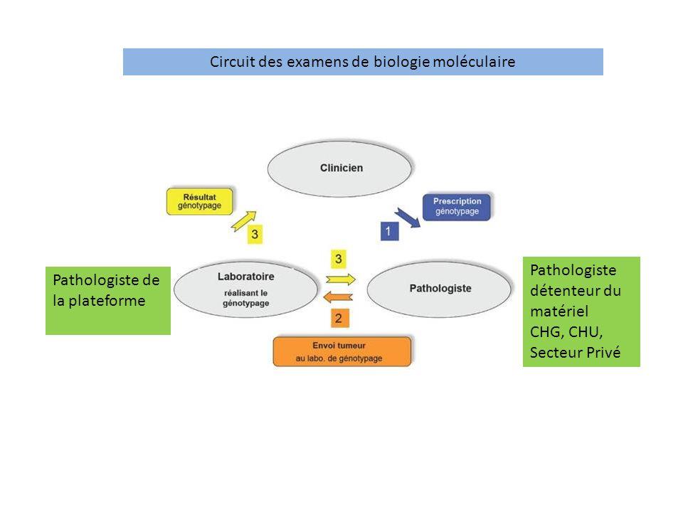 Circuit des examens de biologie moléculaire
