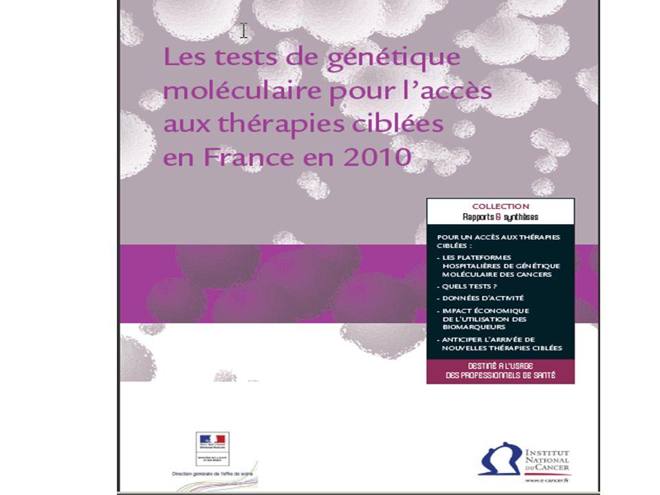 Un rapport de synthèse concernant les tests de génétique moléculaire pour l'accès aux thérapies ciblées a été rédigé