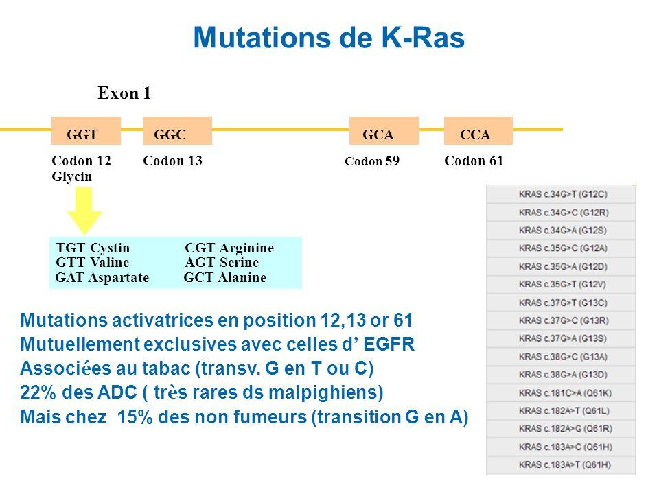 Mutations de K-Ras Exon 1