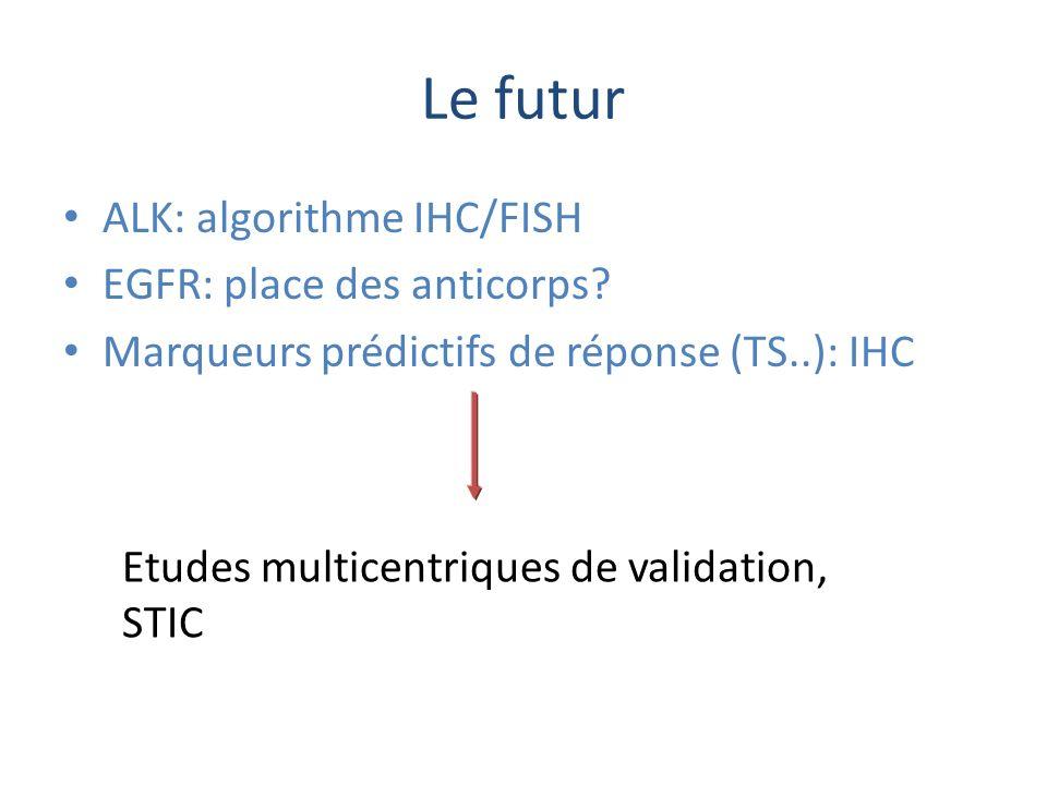 Le futur ALK: algorithme IHC/FISH EGFR: place des anticorps