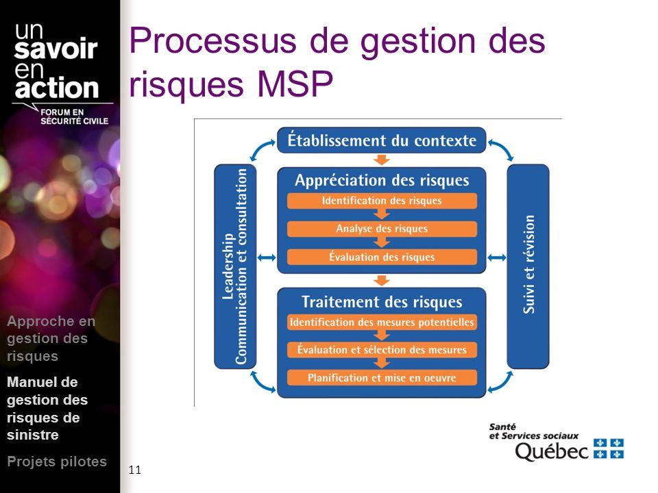 Processus de gestion des risques MSP