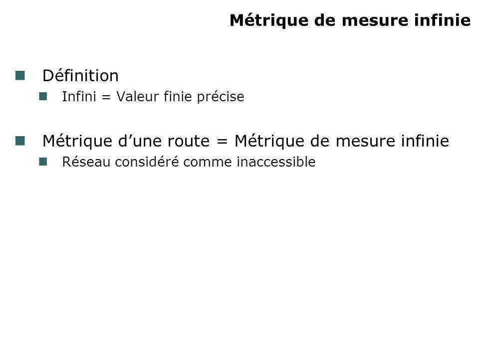 Métrique de mesure infinie