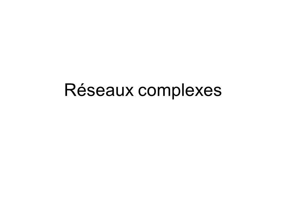 Réseaux complexes