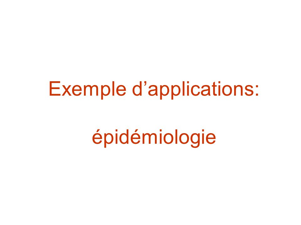 Exemple d'applications: