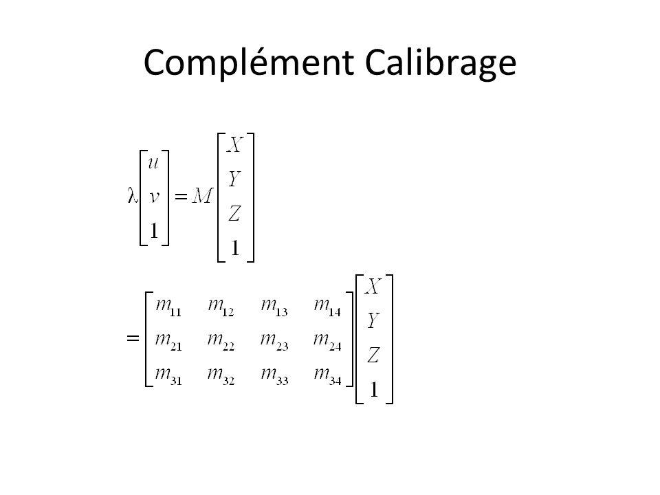 Complément Calibrage