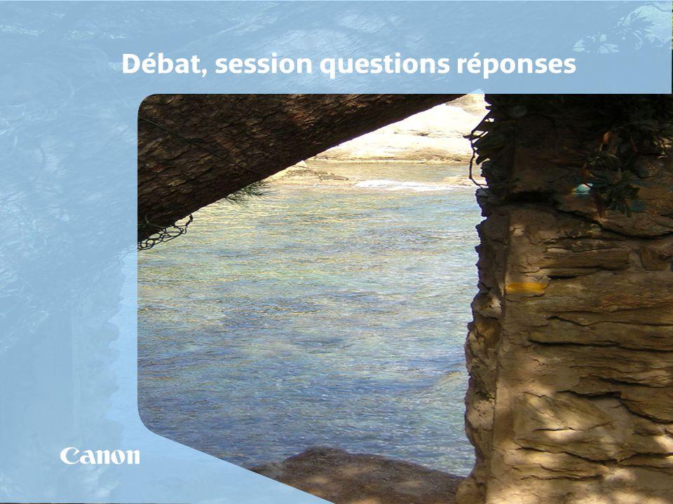 Débat, session questions réponses