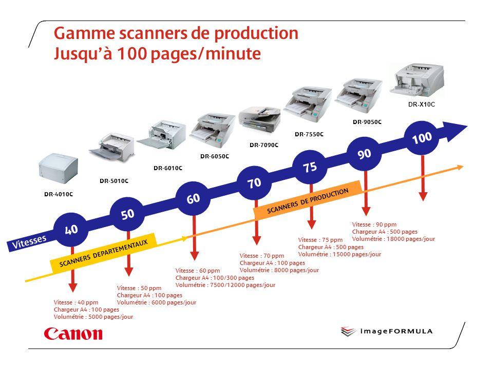 Gamme scanners de production Jusqu'à 100 pages/minute