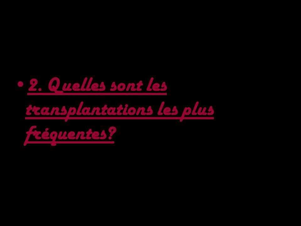 2. Quelles sont les transplantations les plus fréquentes