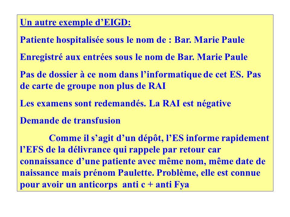 Un autre exemple d'EIGD: