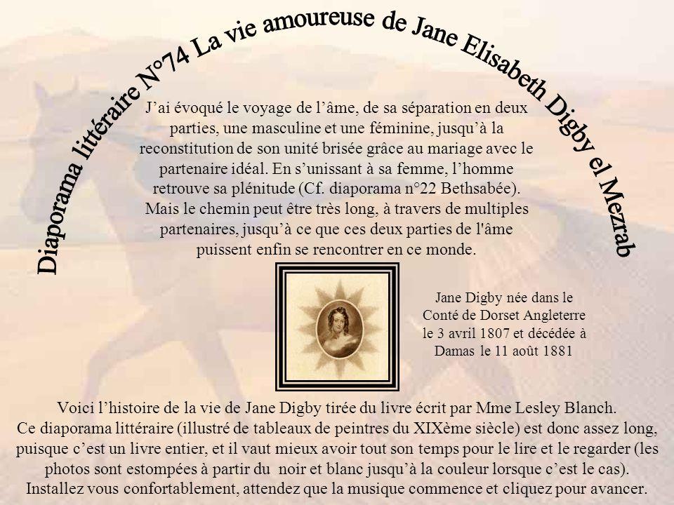 Diaporama littéraire N°74 La vie amoureuse de Jane Elisabeth Digby el Mezrab