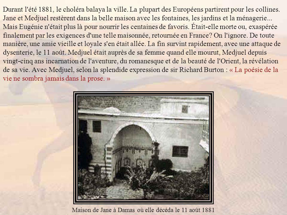 Durant l été 1881, le choléra balaya la ville