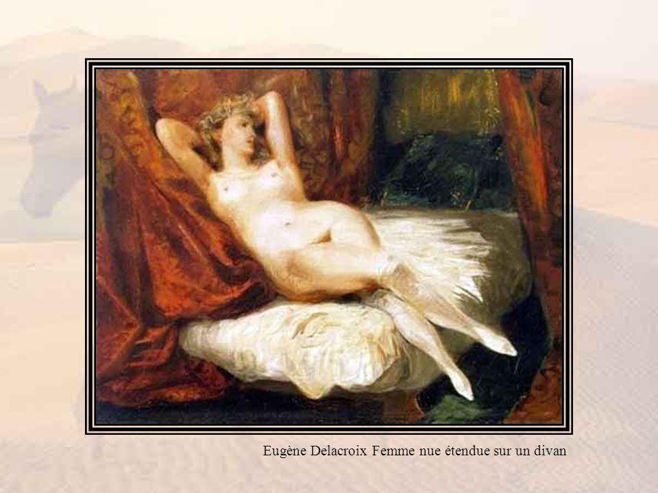 Eugène Delacroix Femme nue étendue sur un divan