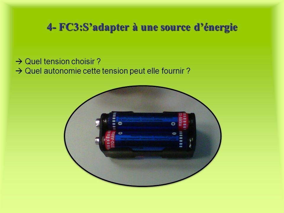 4- FC3:S'adapter à une source d'énergie