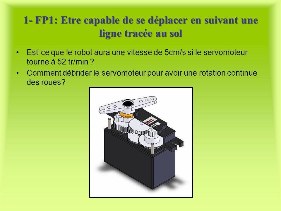 1- FP1: Etre capable de se déplacer en suivant une ligne tracée au sol