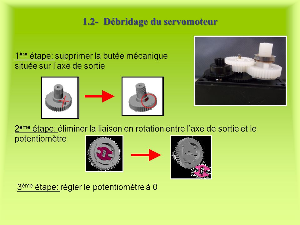 1.2- Débridage du servomoteur