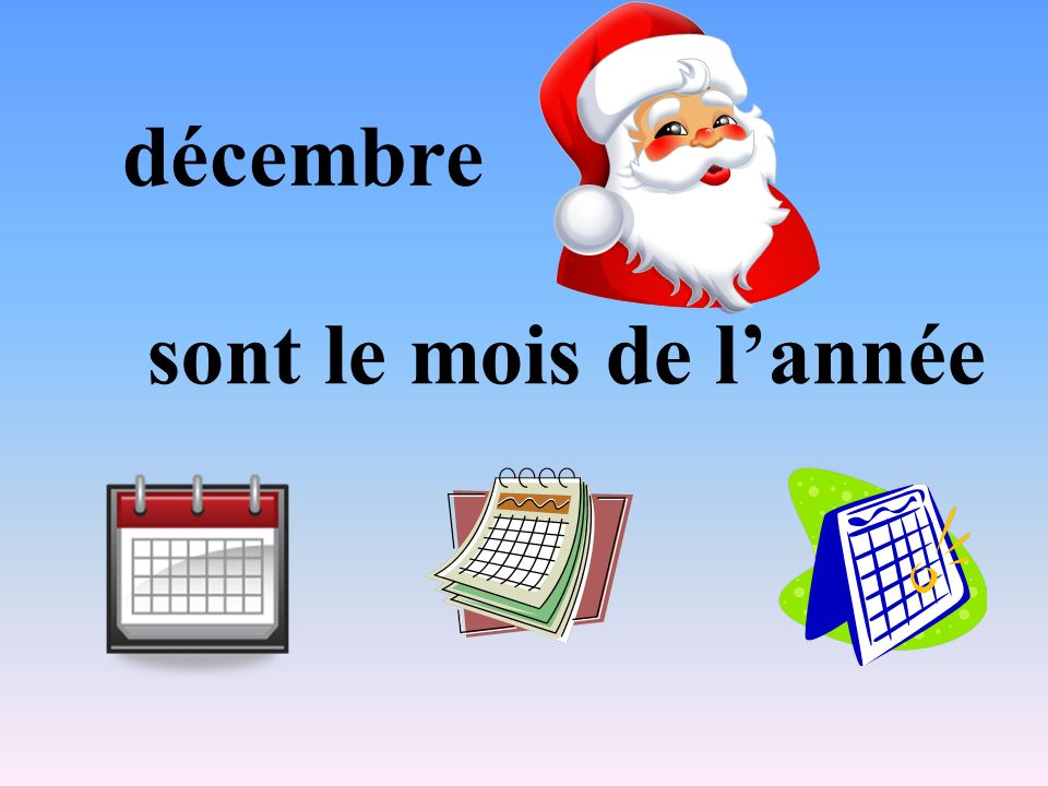décembre sont le mois de l'année