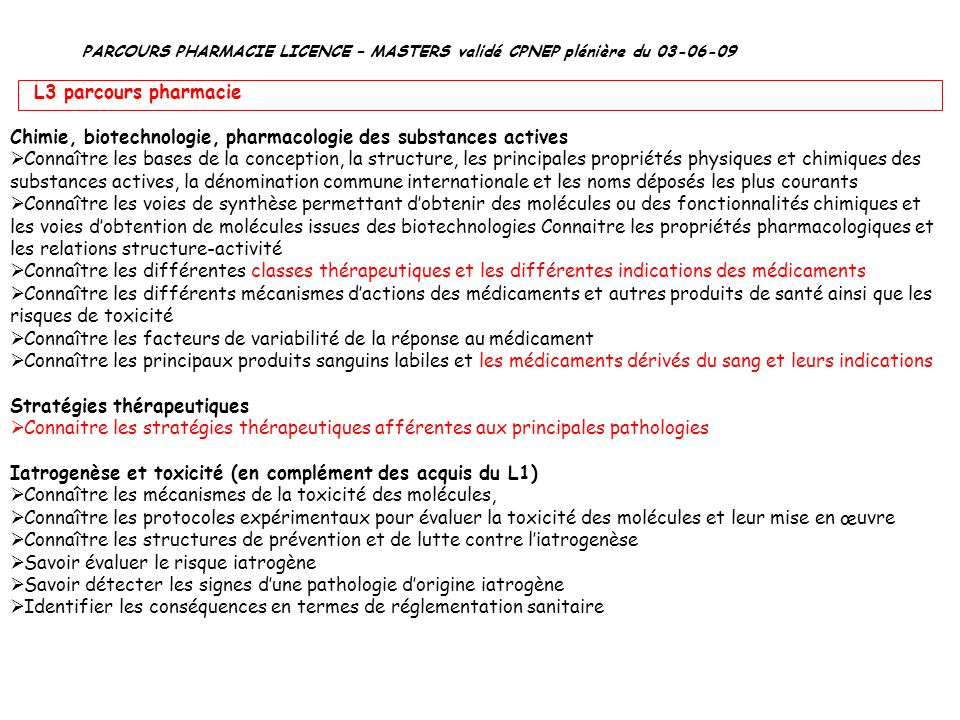 Chimie, biotechnologie, pharmacologie des substances actives