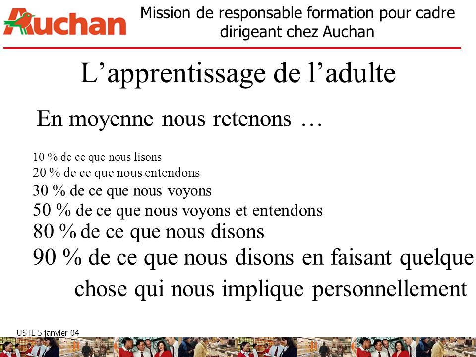 L'apprentissage de l'adulte