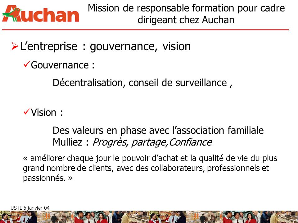 L'entreprise : gouvernance, vision