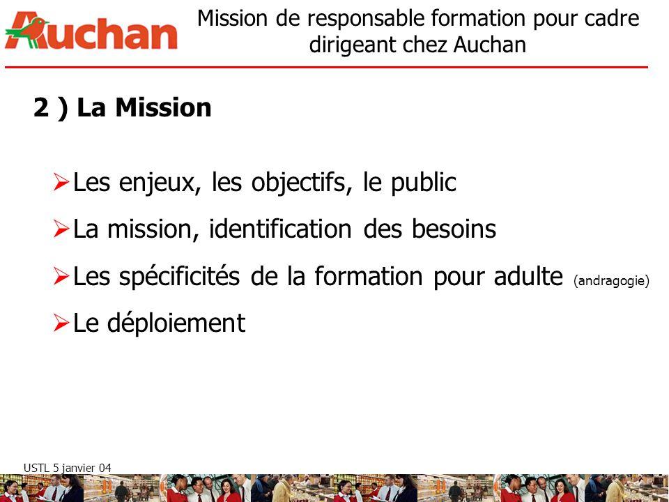 2 ) La Mission Les enjeux, les objectifs, le public